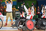 Shinichi Shimakawa (JPN), <br /> SEPTEMBER 18, 2016 - WheelChair Rugby : <br /> 3rd place match Japan - Canada  <br /> at Carioca Arena 1<br /> during the Rio 2016 Paralympic Games in Rio de Janeiro, Brazil.<br /> (Photo by AFLO SPORT)