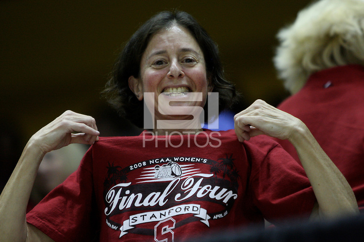 BERKELEY, CA - MARCH 30: Fans cheer during Stanford's 84-66 win against the Ohio State Buckeyes on March 28, 2009 at Haas Pavilion in Berkeley, California.