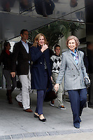 Queen Sofia of Spain, Princes Cristina of Spain and Iñaki Urdangarin visit King Juan Carlos of Spain at Quiron Hospital in Madrid. November 25 , 2012. (ALTERPHOTOS/Caro Marin) /NortePhoto