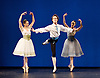 The Royal Danish Ballet soloists &amp; principals <br /> Bournoville Celebration <br /> at The Peacock Theatre, London, Great Britain <br /> press photocall<br /> 9th January 2015 <br /> <br /> <br /> <br /> pas de six from Napoli <br /> <br /> <br /> Andreas Kaas - centre <br /> <br /> <br /> <br /> <br /> <br /> Photograph by Elliott Franks <br /> Image licensed to Elliott Franks Photography Services