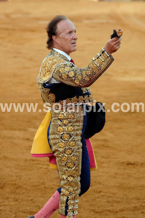 **ALL ROUND PICTURES FROM SOLARPIX.COM**.**WORLDWIDE SYNDICATION RIGHTS**.Frank Evans, the British bullfighter, came out of retirement last night for a bullfight in Benalmadena, Spain. Words by Gerard Couzens +34659567821. Benalmadena, Spain. 30 August 2009..This pic: Frank Evans..JOB REF: 9828 CS1        DATE: 30_08_2009.**MUST CREDIT SOLARPIX.COM OR DOUBLE FEE WILL BE CHARGED**.**MUST NOTIFY SOLARPIX OF ONLINE USAGE**.**CALL US ON: +34 952 811 768 or LOW RATE FROM UK 0844 617 7637**