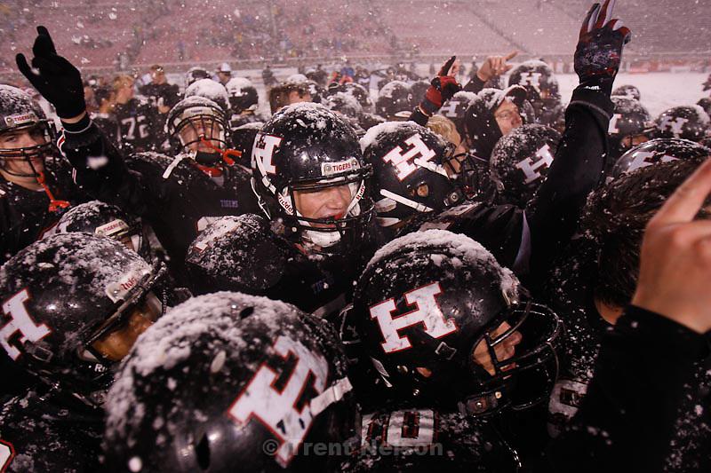 Trent Nelson  |  The Salt Lake Tribune.Hurricane defeated Desert Hills 21-0 in the 3A State Championship high school football game at Rice-Eccles Stadium in Salt Lake City, Utah, Friday, November 18, 2011.