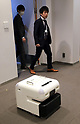 Cyberdyne and Mitsui Fudosan demonstrate autonomous cleaning robot CL02