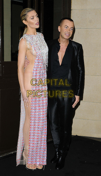 LONDON, ENGLAND - NOVEMBER 08: Abbey Clancy, Julien Macdonald at the Fashion for the Brave fashion show &amp; fundraising event, Dorchester Hotel, Park Lane, on Friday November 08, 2013 in London, England, UK.<br /> CAP/CAN<br /> &copy;Can Nguyen/Capital Pictures