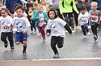 NWA Democrat-Gazette/FLIP PUTTHOFF <br /> OFF AND TROTTING<br /> Kids sprint on Saturday May 11 2019 to start the toddler trot, one of the events at the 21st annual Kendrick Fincher Hydration Celebration at Pinnacle Hills Promendade in Rogers. The event featured the toddler trot, youth run, 5-kilometer run and 1-mile walk. The celebration promotes healthy hydration habits for adults and children.
