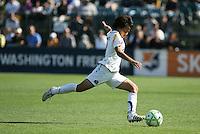 Aya Miyama kicks the ball. Los Angeles Sol defeated FC Gold Pride 2-0 at Buck Shaw Stadium in Santa Clara, California on May 24, 2009.