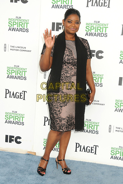 1 March 2014 - Santa Monica, California - Octavia Spencer. 2014 Film Independent Spirit Awards - Arrivals held at Santa Monica Beach. <br /> CAP/ADM/BP<br /> &copy;Byron Purvis/AdMedia/Capital Pictures