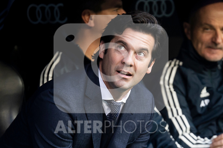Real Madrid coach Santiago Solari during King's Cup match between Real Madrid and U.D. Melilla at Santiago Bernabeu Stadium in Madrid, Spain. December 06, 2018. (ALTERPHOTOS/Borja B.Hojas)