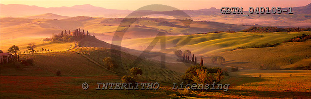 Tom Mackie, LANDSCAPES, panoramic, photos, View over Belvedere, San Quirico, Tuscany, Italy, GBTM040105-1,#L#