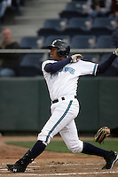 July 6 2009: Mario Martinez of the Everett AquaSox bats against the Yakima Bears at Everett Memorial Stadium in Everett,WA.  Photo by Larry Goren/Four Seam Images