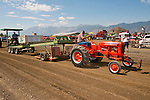 Annual EDGE & TA chapter 132 tractor show and pull in Bill Ramsus in the Carson Valley..1940s Allis Chalmers WD tractor