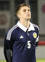 Marcus Fraser in the Scotland v Armenia UEFA European Under-19 Championship Qualifying Round match at New Douglas Park, Hamilton on 9.10.12.