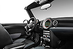 Passenger side dashboard view of a 2010 Mini Cooper Convertible