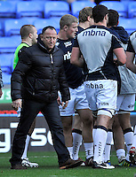 Reading, England. Sale Sharks chief executive Steve Diamond has taken charge of first-team affairs for the rest of the season at the LV= Cup match between London Irish and Sale Sharks at Madejski Stadium on November 11, 2012 in Reading, England.
