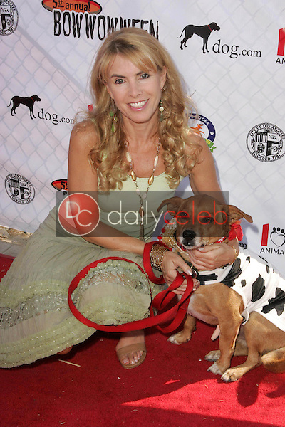 Julia Verdin and her dog Spanner<br />