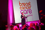 Breast Cancer Care Charity Fashion Show.<br /> Wales Millennium Centre.<br /> Welcome speech by Jane Hinnnrichs Chair of Breast Cancer Care.<br /> 05.03.14<br /> <br /> &copy;Steve Pope-FOTOWALES