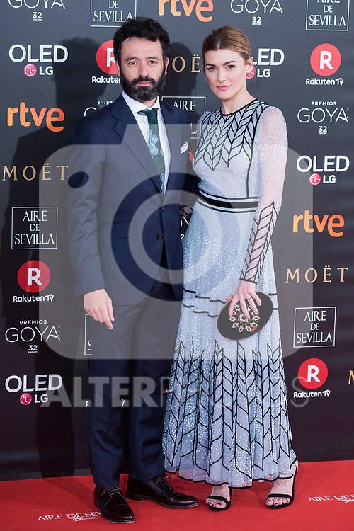Rodrigo Sorogoyen and Marta Nieto attends red carpet of Goya Cinema Awards 2018 at Madrid Marriott Auditorium in Madrid , Spain. February 03, 2018. (ALTERPHOTOS/Borja B.Hojas)