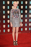 Michelle Williams<br /> at the 2017 BAFTA Film Awards held at The Royal Albert Hall, London.<br /> <br /> <br /> &copy;Ash Knotek  D3225  12/02/2017
