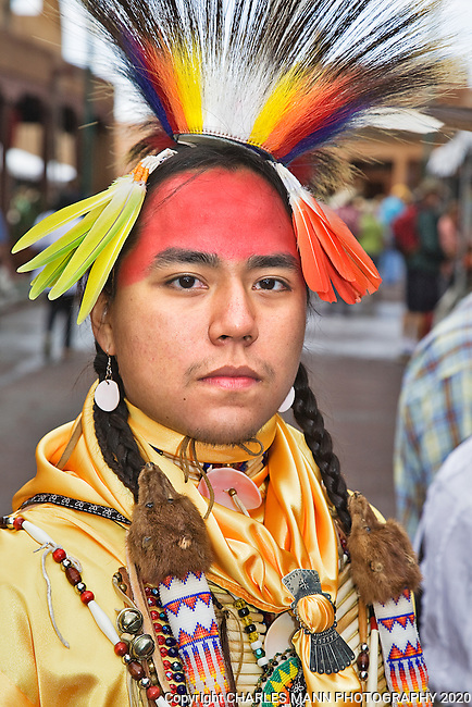 The 90th annual Santa Fe Indian Market was held on the plaza in August, New Mexico, and is the largest Native American art event in the world. Actor, model and Clothing Contest winner Malachai Tsoodle-Nelson is a Kiowa-Navajo from Albuquerque.