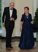 Adrienne Arsht and C. Boyden Gray arrive for the State Dinner hosted by United States President Donald J. Trump and First lady Melania Trump in honor of Prime Minister Scott Morrison of Australia and his wife, Jenny Morrison, at the White House in Washington, DC on Friday, September 20, 2019.<br /> Credit: Ron Sachs / Pool via CNP