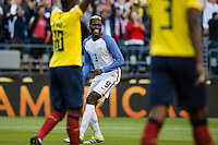 Seattle, WA - Thursday, June 16, 2016: United States forward Gyasi Zardes (9) celebrates his goal during a Quarterfinal match of the 2016 Copa America Centenrio at CenturyLink Field.