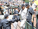 (L-R) Joe Girardi, Masahiro Tanaka (Yankees), JUNE 3, 2015 - MLB : New York Yankees starting pitcher Masahiro Tanaka (C) gets congratulation from manager Joe Girardi (R) against the Seattle Mariners at Safeco Field in Seattle, United States. (Photo by AFLO)