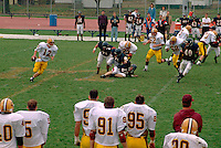 College football player running with the ball ages 18 through 22  St Paul Minnesota USA