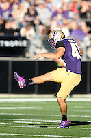Sept 20, 2014:  Washington's Cameron Van Winkle against Georgia State.  Washington defeated Georgia State 45-14 at Husky Stadium in Seattle, WA.