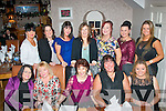 Staff from Dunnes stores, North Circular Rd, Tralee dined in Bella Bia, Tralee on Saturday for their annual Christmas bash, present were (seated) l-r: Roseanne Dwyer, Bernie Colgan, Olivia Cannon, Lillian Toban and Aisling O'Connor. Back l-r: Michelle Downey, Marie Enright, Ashley Guinan, Tracey Fitzgerald, Maura O'Connor, Melissa Horan and Sharon Russell.