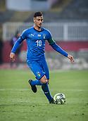 27th March 2018, Karadjorde Stadium, Novi Sad, Serbia; Under 21 International Football Friendly, Serbia U21 versus Italy U21; Midfielder Rolando Mandragora of Italy in action