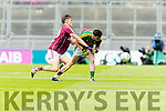 David Naughten Kerry in action against Finian Ó Laoi Galway in the All Ireland Minor Football Final in Croke Park on Sunday.