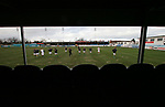 Rhyl 3 Aberystwyth Town 0, 13/01/20007. Belle Vue, The home players taking part in the pre-match warm-up as they prepare to take on Aberystwyth Town in a Welsh Premier League match. The home team won the game by 3 goals to nil, with all the goals coming in a wind-assisted second half. The victory took the north coast club to the top of the league. Photo by Colin McPherson.