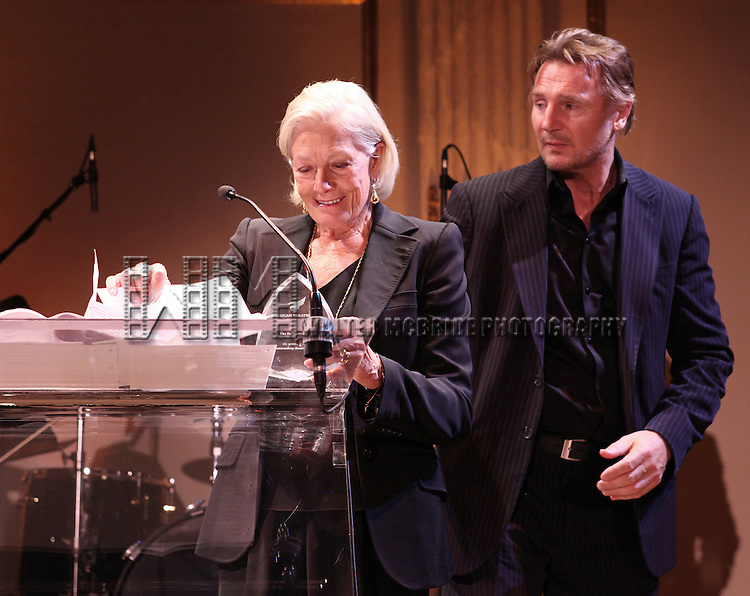 Vanessa Redgrave & Liam Neeson attending the American Theatre Wing's annual gala at the Plaza Hotel on Monday Sept. 24, 2012 in New York.