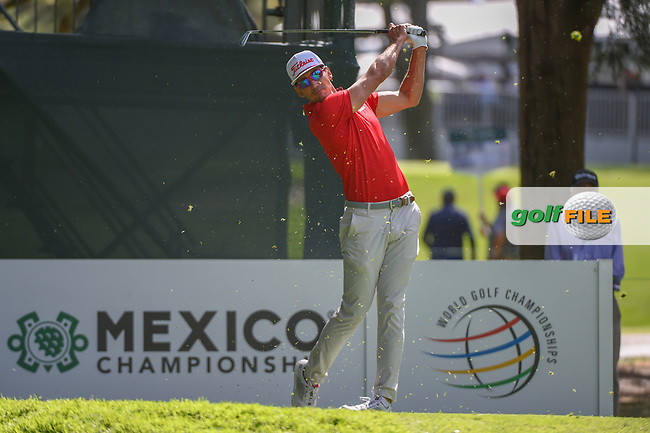 Rafael Cabrera Bello (ESP) watches his tee shot on 7 during round 1 of the World Golf Championships, Mexico, Club De Golf Chapultepec, Mexico City, Mexico. 2/21/2019.<br /> Picture: Golffile | Ken Murray<br /> <br /> <br /> All photo usage must carry mandatory copyright credit (© Golffile | Ken Murray)