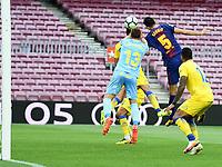 BARCELONA, 02-10-2017. LaLiga 2017/ 2018, date 7. FC Barcelona 3-0 UD Las Palmas. Sergio Busquets of FC Barcelona scores his goal.<br /> Foto Sergio Ruiz/Pro Shots/Insidefoto