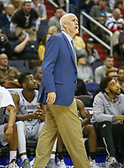 Washington, DC - March 10, 2018: St. Bonaventure Bonnies head coach Mark Schmidt during the Atlantic 10 semi final game between St. Bonaventure and Davidson at  Capital One Arena in Washington, DC.   (Photo by Elliott Brown/Media Images International)