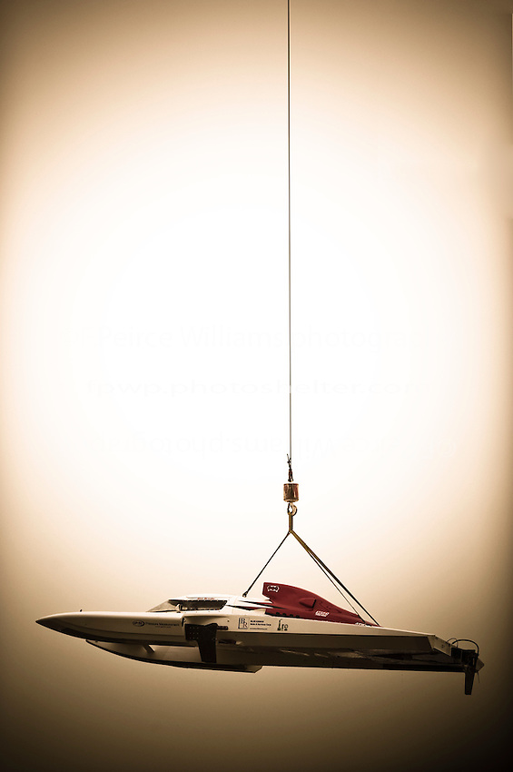 """GP-50 """"Intensity"""" is lifted from the water."""
