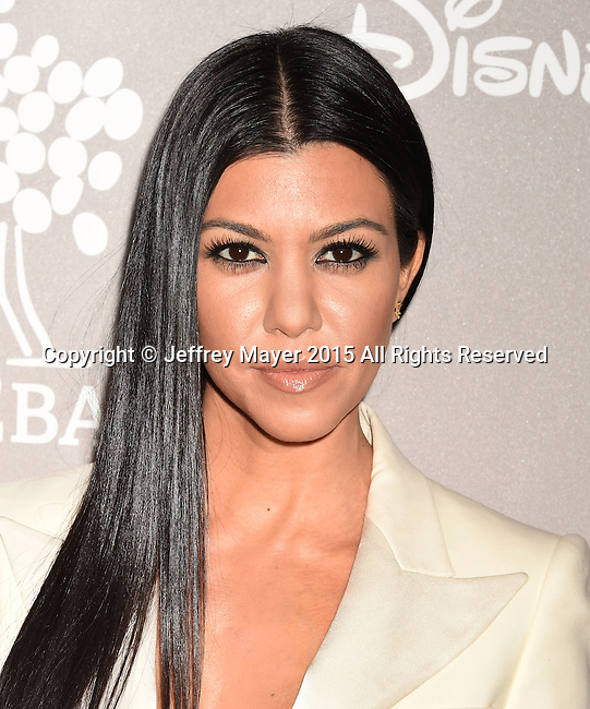CULVER CITY, CA - NOVEMBER 14: TV personality Kourtney Kardashian attends the 2015 Baby2Baby Gala presented by MarulaOil & Kayne Capital Advisors Foundation honoring Kerry Washington at 3LABS on November 14, 2015 in Culver City, California.