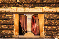 The entrance to the church at Debre Damo monestary.