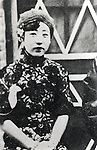 "1933 - Yoshiko Kawashima (1907-1948) was a Manchu princess brought up in Japan, who served as a spy in the service of the Japanese Kwantung Army and Manchukuo. She is sometimes known in fiction by the pseudonym as the ""Eastern Mata Hari"". She was executed as a traitor by the Kuomintang after the Second Sino-Japanese War. (Photo by Kingendai Photo Library/AFLO)"