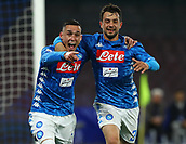 17th March 2019, Stadio San Paolo, Naples, Italy; Serie A football, Napoli versus Udinese; Jose Maria Callejon of Napoli celebrates after scoring his goal in the 26th minute 2-0