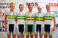 The Australia national team. Trust House Women's Cycle Tour Of New Zealand launch at Copthorne Hotel in Masterton, New Zealand on Wednesday, 18 February 2015. Photo: Dave Lintott / lintottphoto.co.nz