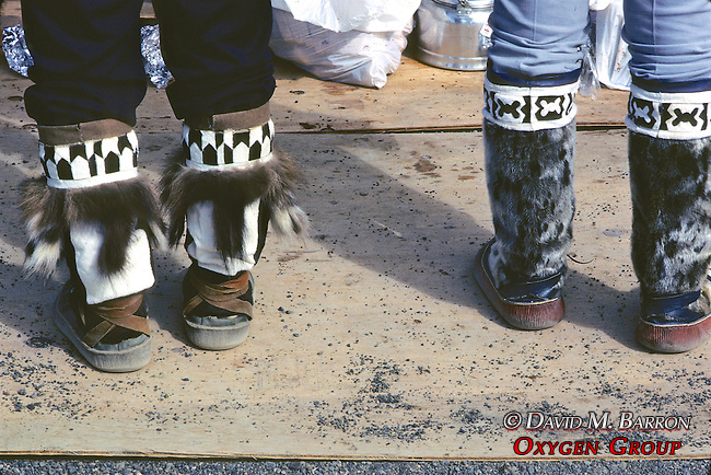 Two Pair Of Native Seal Skin Boots