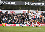 Arsenal's Alexis Sanchez scoring his sides second goal<br /> <br /> - English Premier League - Tottenham Hotspur vs Arsenal  - White Hart Lane - London - England - 5th March 2016 - Pic David Klein/Sportimage