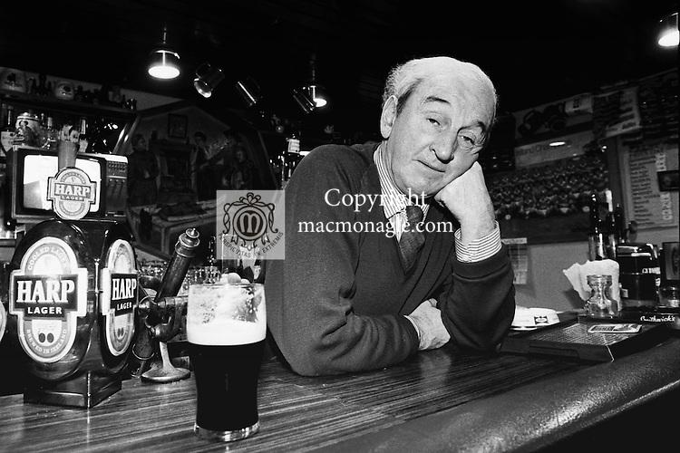 Kerry writer John B Keane .Picture (B/W pic)...Don MacMonagle
