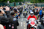 LONDON, ENGLAND, 22 May ,2014.  Bikers gather at Woolwich Barracks to mark the first anniversary of the murder of Fusilier Lee Rigby  near his Woolwich barracks.