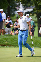 Justin Thomas (USA) after sinking his par putt on 3 during Rd4 of the 2019 BMW Championship, Medinah Golf Club, Chicago, Illinois, USA. 8/18/2019.<br /> Picture Ken Murray / Golffile.ie<br /> <br /> All photo usage must carry mandatory copyright credit (© Golffile | Ken Murray)