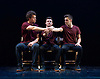 Bromance <br /> Barely Methodical Troupe Opening the London International Mime Festival <br /> at Platform Theatre, London, Great Britain <br /> press photocall <br /> 7th January 2015 <br /> <br /> <br /> <br /> Louis Gift <br /> Beren d'Amico <br /> Charlie Wheeller <br /> <br /> <br /> <br /> <br /> <br /> Photograph by Elliott Franks <br /> Image licensed to Elliott Franks Photography Services