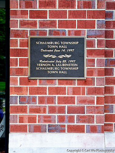 Schaumburg Township Town Hall Dedication Plaque