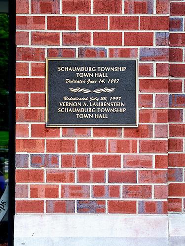 Schaumburg Township Town Hall Dedication Plaque